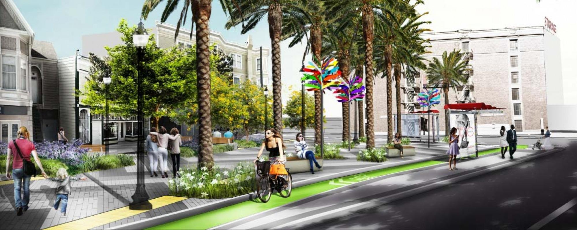 Masonic Avenue Streetscape Improvement Project rendering